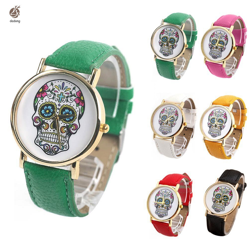 Fashion Students Personality Skulls Watch Strap Watch Gift For Girl Women