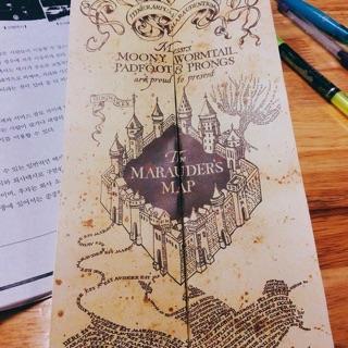Bản đồ Đạo tặc (Marauder's Map) Harrypotter