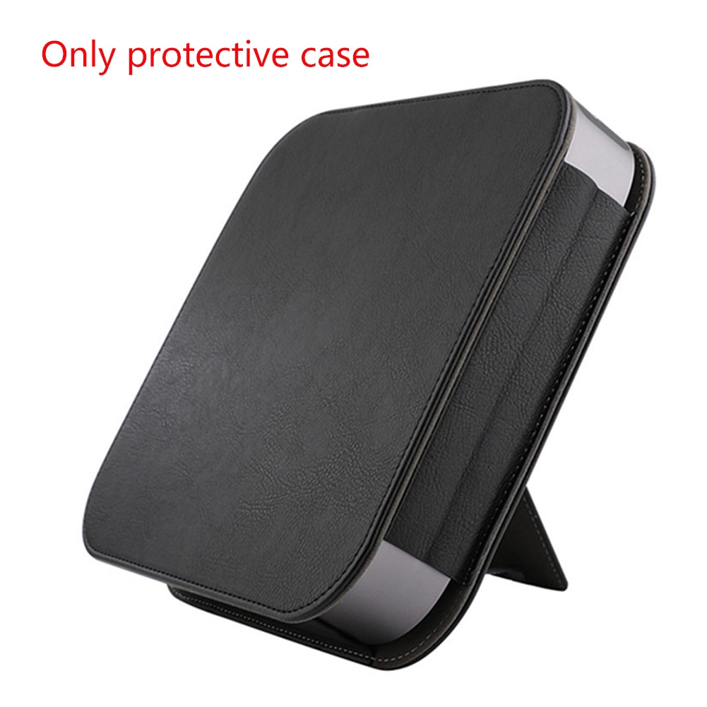 Sleeve PU Leather Full Cover Dustproof Travel Carrying Stand Protective Case Dustpfoof Durable For Apple Mac Mini 2018 Giá chỉ 240.000₫