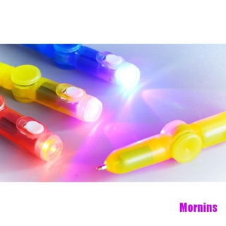 Mornin☪Interesting Toy Fingertip Rotating spinner Gyro toy Pen Led Luminous Gyro Pen
