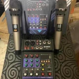 Bộ Mixer Yamaha G4 USB - Mixer Chuyên Karaoke, Livestream, Thu Âm Cao Cấp - Tặng Kèm 2 Micro Không Dây thumbnail