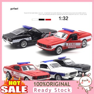 Mod-Diecast Police Fire Rescue Car Pull Back Model with LED Music Kids Toy Gift