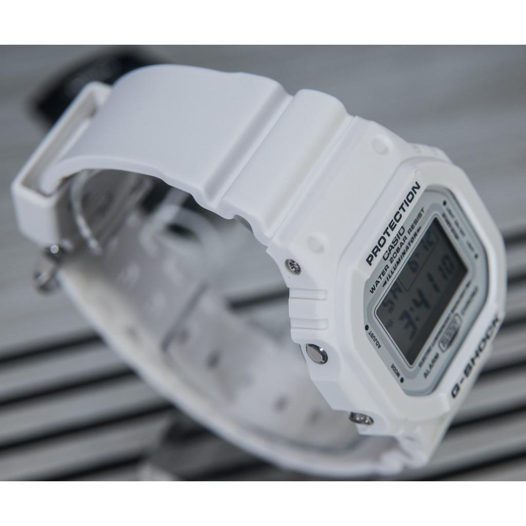 Đồng Hồ Nam Casio G-Shock DW-5600MW-7DR Dây Nhựa Trắng - Mặt Vuông Cổ Điển - Chống N