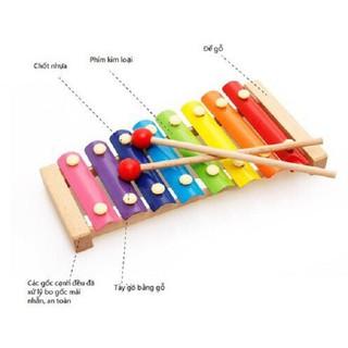 DGK - Đồ chơi Đàn Piano Xylophone gỗ 8 thanh quãng - Đồ chơi âm nhạc cho bé 8