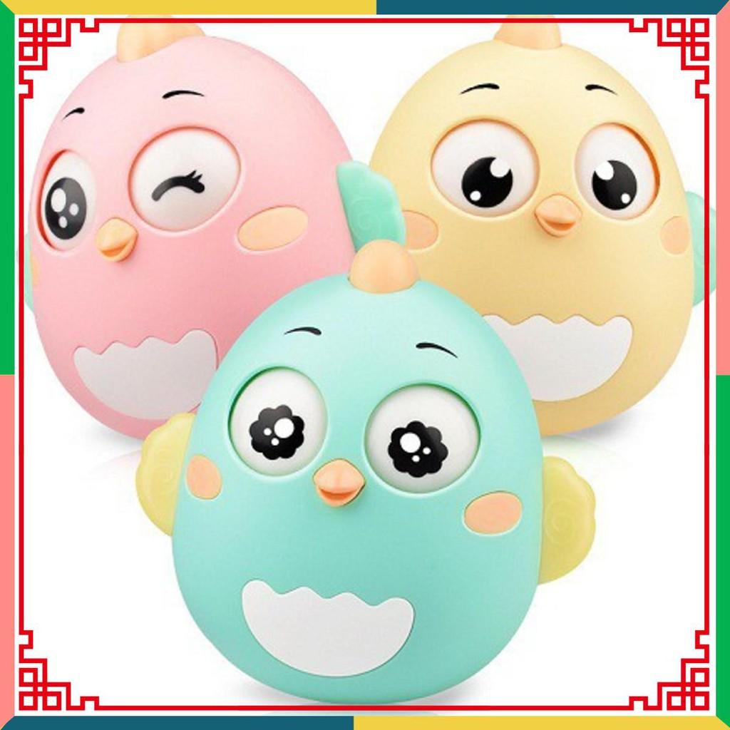 Đồ chơi con lật đật trẻ em sơ sinh 3-12 tháng hình gà *Loại Tốt*