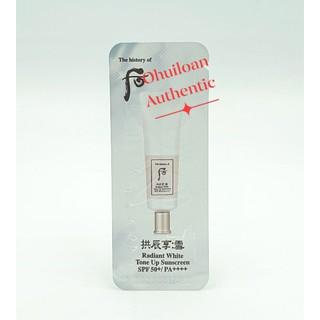 Kem chống nắng dưỡng trắng nâng tone tức thì WHOO RADIANT WHITE TONE UP SUNSCREEN SPF50+ PA++++ thumbnail