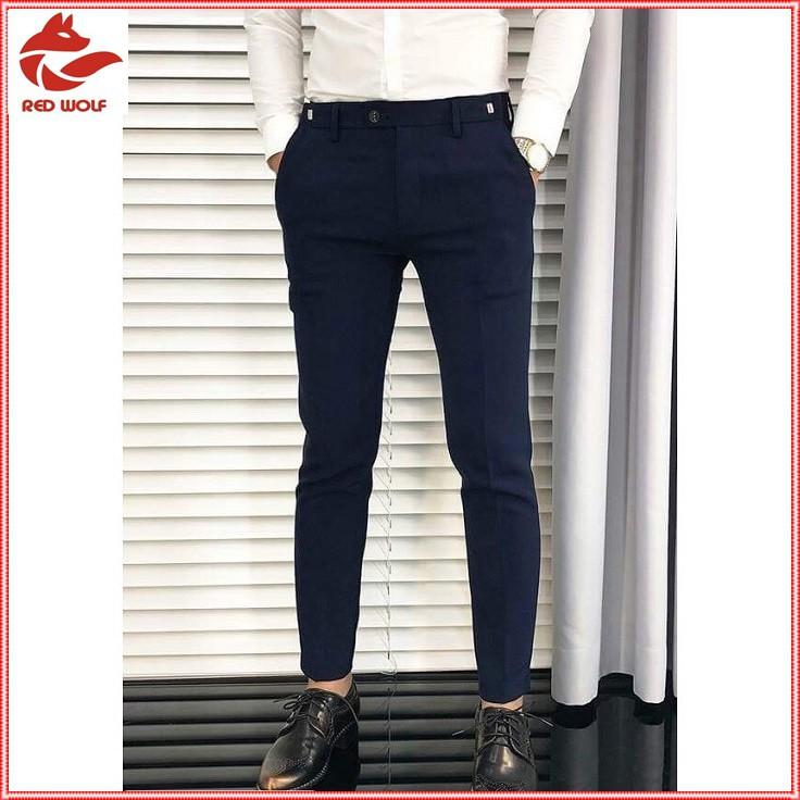 Quần âu nam đẹp chất lượng may cao cấp màu ghi, quần jogger nam xanh than và đen dáng ôm body Hàn Quốc giá gốc tại xưởng