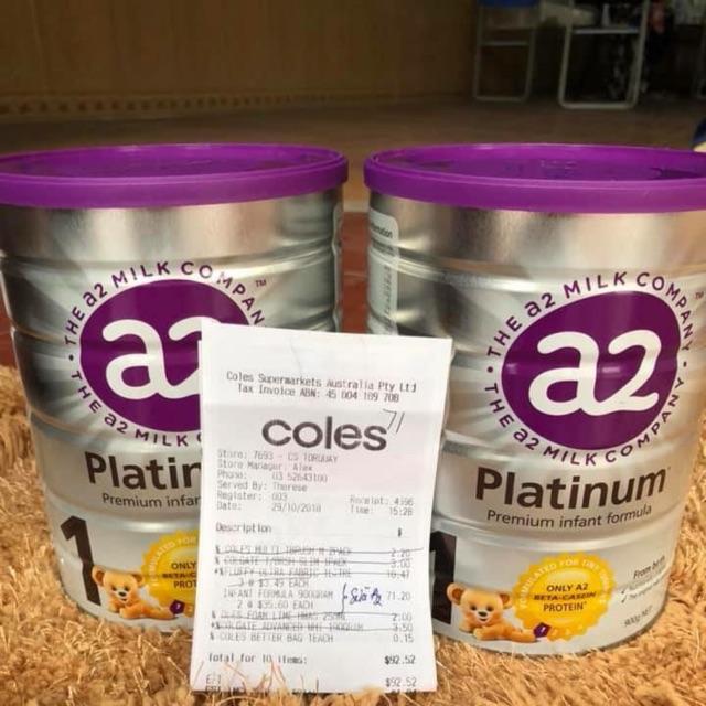 Sữa a2 platinum nắp tím cho bé phát triển toàn diện