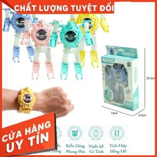 SIÊU HOT _ Đồng Hồ 2in1 Biến Hình Robot _ Dành Cho Bé Trai và Bé Gái (Phù hợp bé từ 3-10 Tuổi)