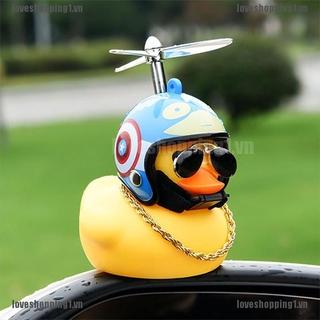 LOVN Wind-breaking Wave-breaking Duck Car furnishings helmet-mounted yellow duck