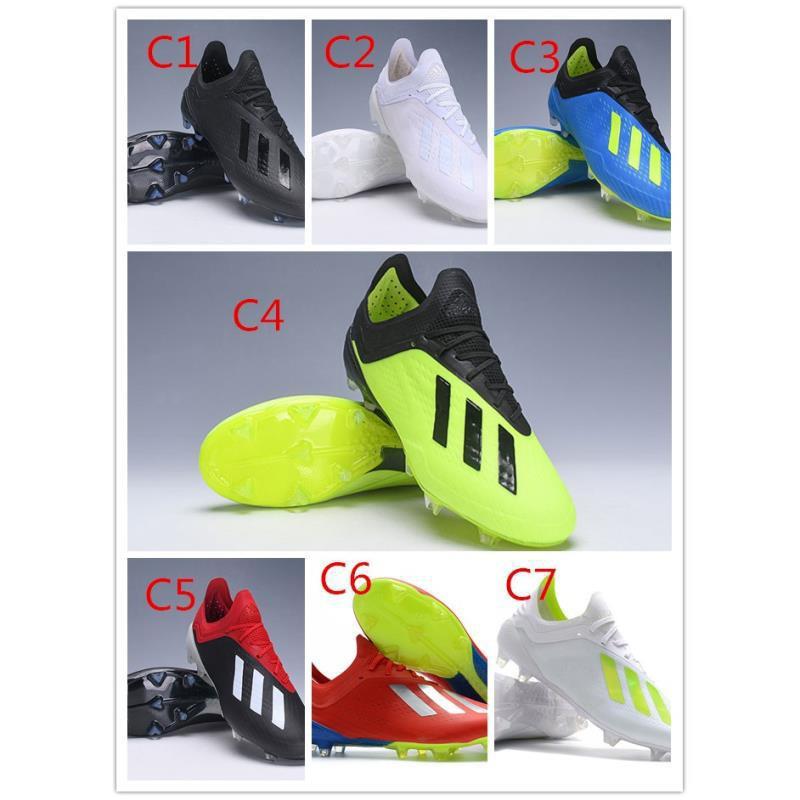 [Già̉m giá]Giày thể thao ngoài trời chuyên nghiệp Adidas X 18.1 FG Giày bóng đá đinh 232