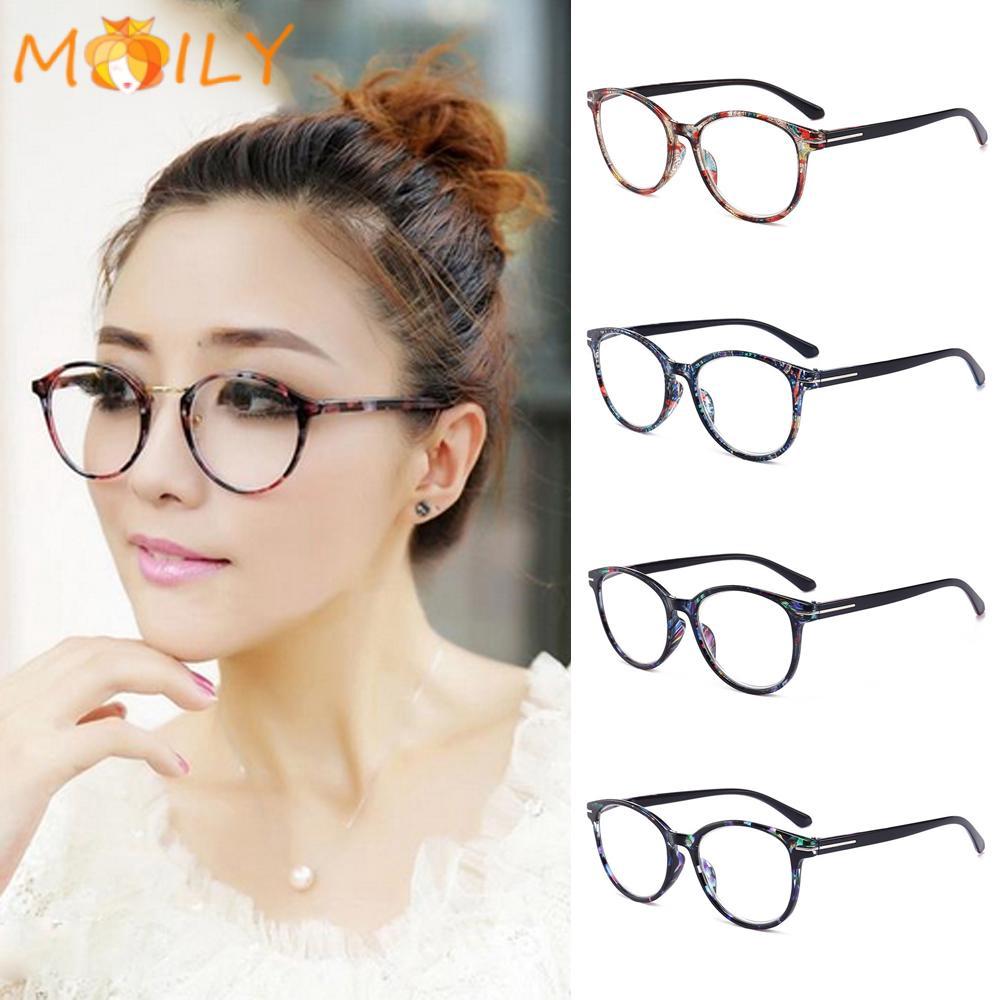 MOILY Women & Men Vintage Reading Glasses Round Floral Frame Ultra-clear Eyewear