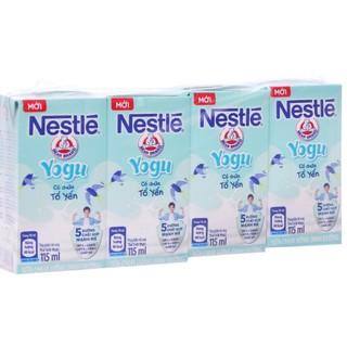 Lốc sữa chua uống Nestlé Yogu có chứa tổ yến 115ml