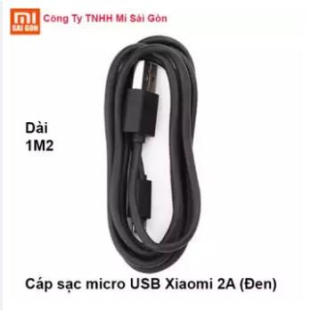 Cáp sạc micro USB Xiaomi 2A (Đen)
