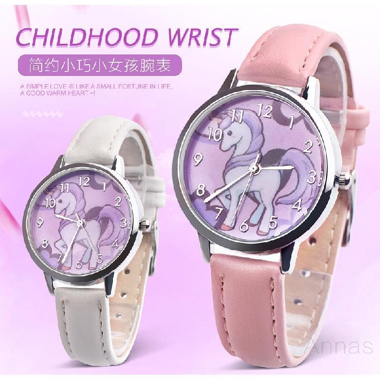 นาฬิกาเด็กการ์ตูนนาฬิกาแฟชั่นนักเรียนยูนิคอร์น 986
