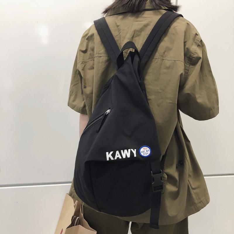 กระเป๋าเป้สะพายหลังความจุขนาดใหญ่สไตล์ฮาราจูกุ
