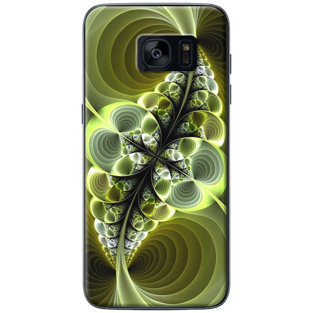 Ốp lưng nhựa dẻo Samsung S7, S7 Edge Lá màu tím
