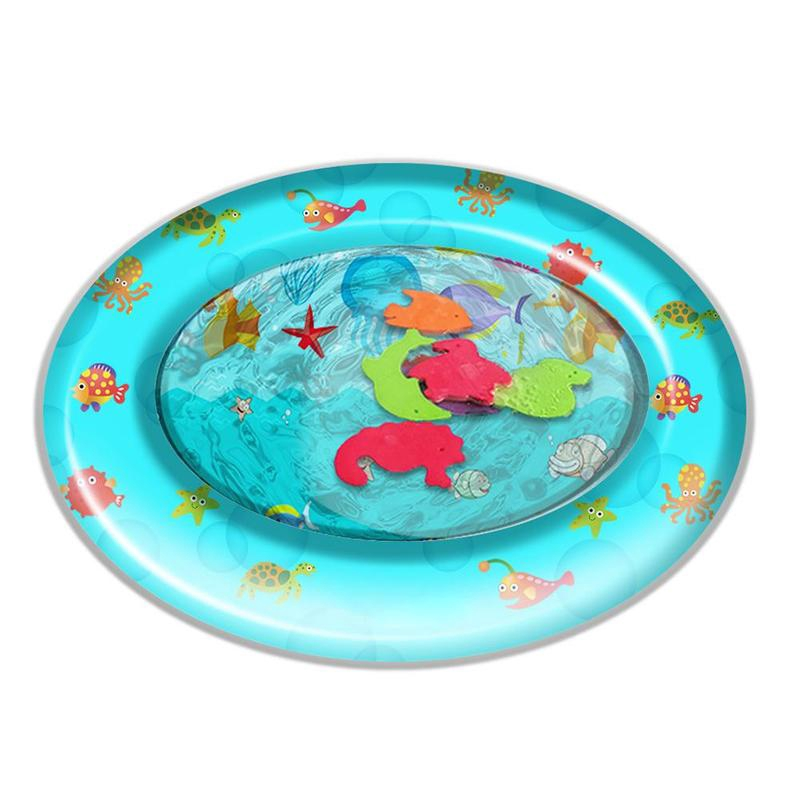 Baby Inflatable Cushion Round Water Pad Bath Toy