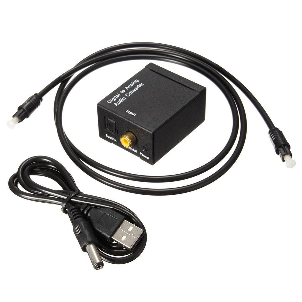 Bộ chuyển đổi tín hiệu âm thanh quang học Optical tặng kèm nguồn và dây quang 1m