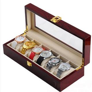 hộp gỗ đựng đồng hồ 6 chiếc