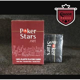 Bài nhựa Poker in hình Poker Star PVC cỡ chữ lớn, không gẫy gấp, chống nước và đàn hồi tốt B-04 ( full ảnh thật )