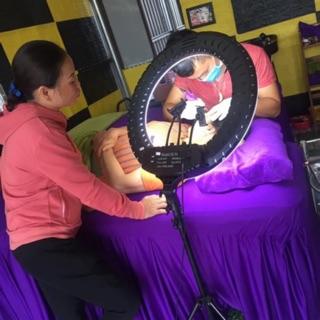 Thanh Lý Đèn livetream phun săm spa chụp ảnh makeup live bán hàng size to có 480 bóng led