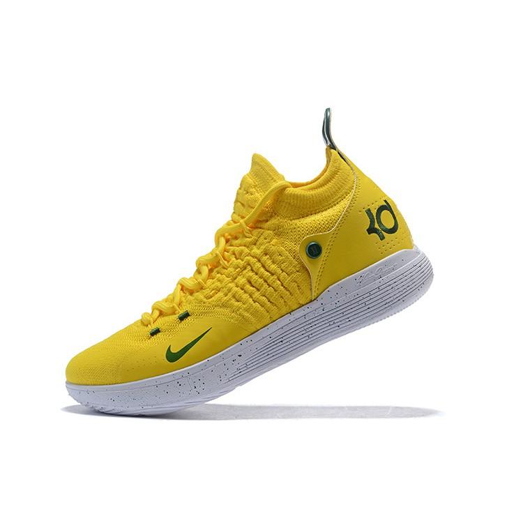 รองเท้าผ้าใบ Nike Zoom KD 11 สำหรับผู้ชายสีเหลือง