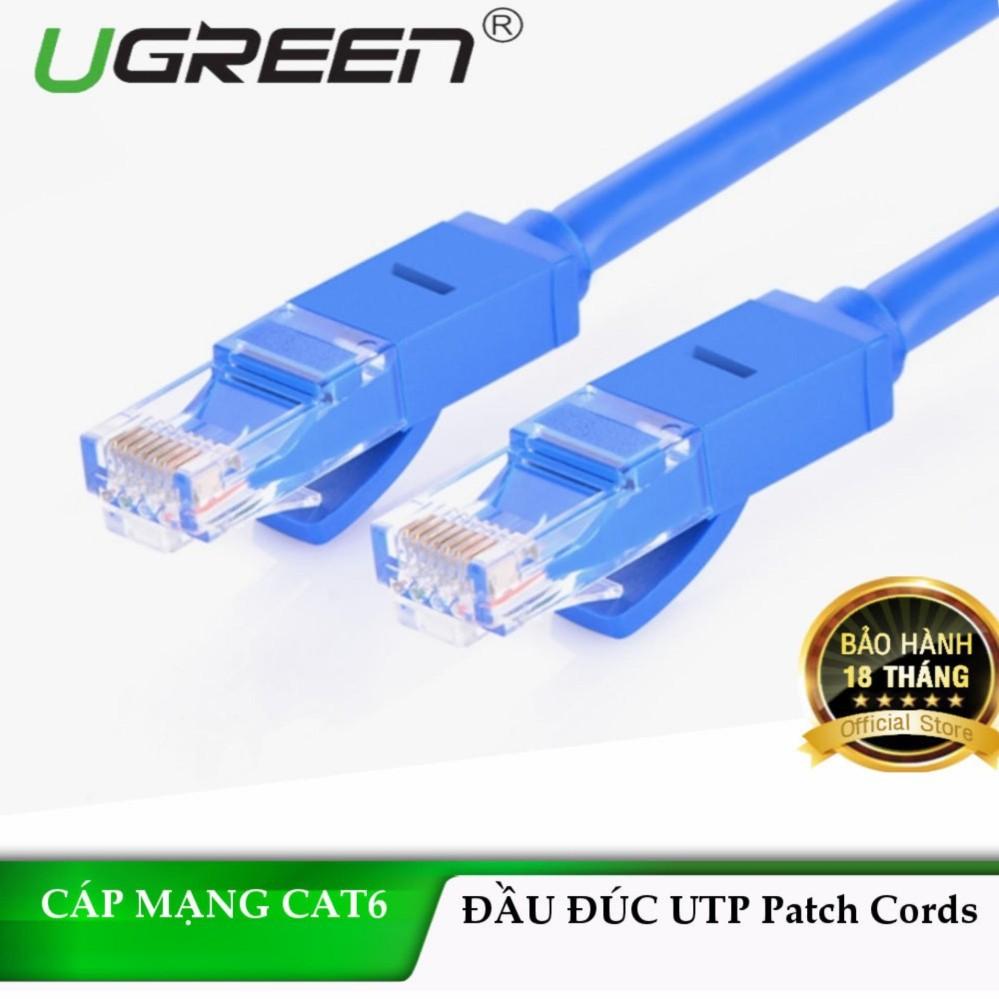 Dây mạng bấm sẵn 2 đầu Cat6 UTP Patch Cords chính hãng UGREEN NW102