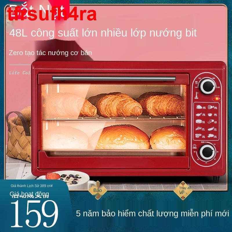 Lò nướng điện 48L, dung tích lớn, lớn gia đình đa chức năng, cá hoàn toàn tự động cho bánh ngọt và pizza, 22L