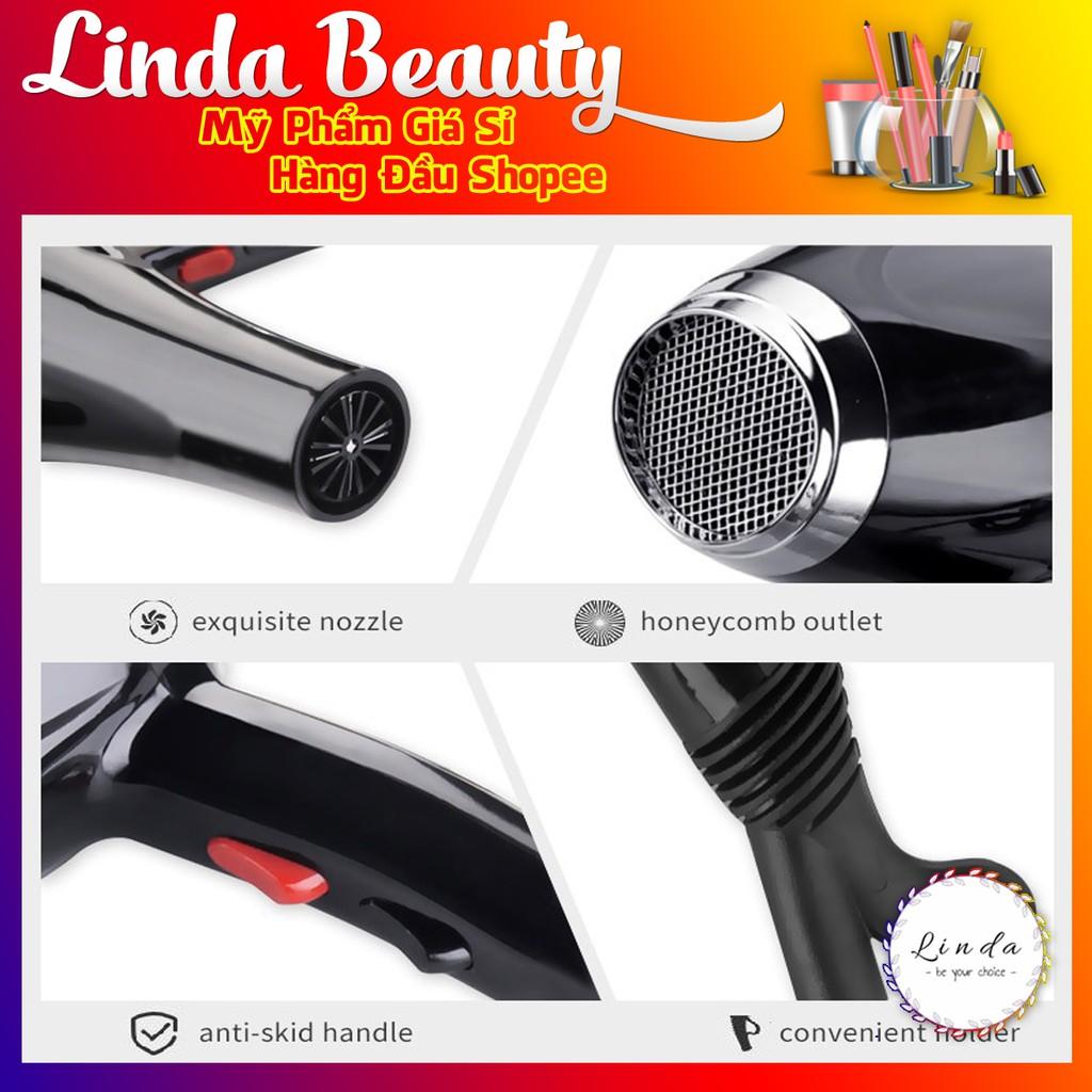 Máy sấy tóc tạo kiểu Deliya công suất lớn 2200w tặng bộ phụ kiện 5 chi tiết