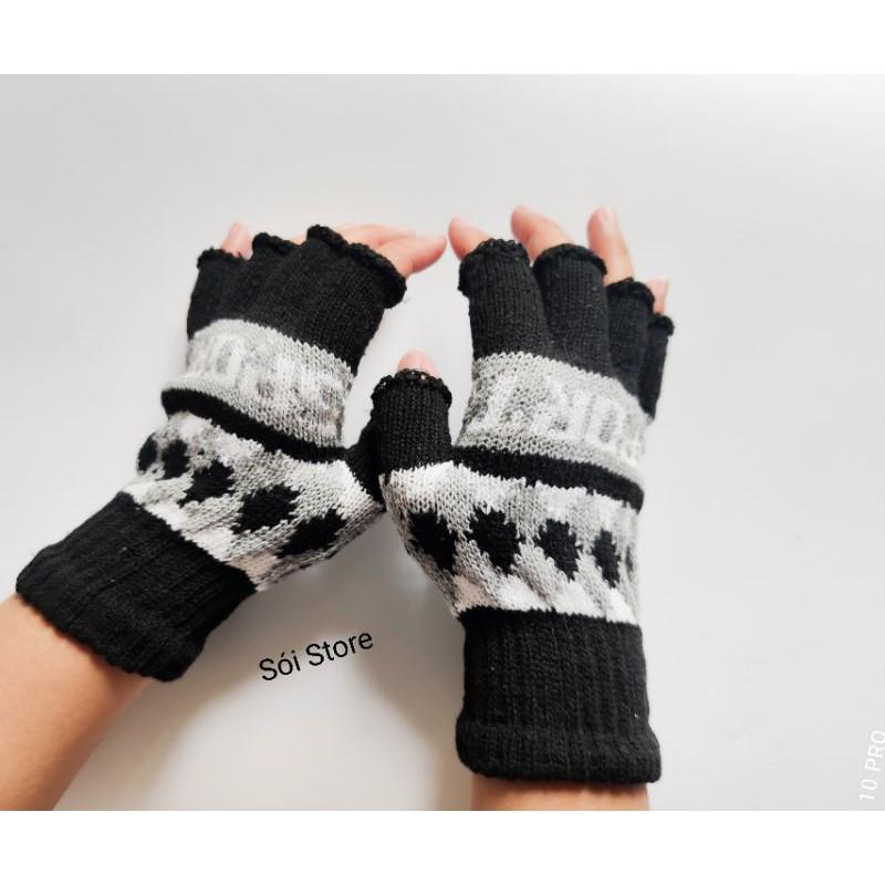 [Mã SKAMSALE07 giảm 10% TỐI ĐA 100K đơn150K] Bao tay len nam nữ giữ ấm chống nắng đa năng hở ngón tiện lợi