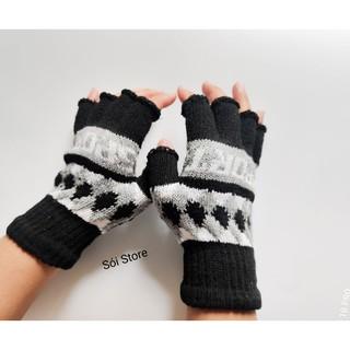 Bao tay len nam nữ giữ ấm chống nắng đa năng hở ngón tiện lợi