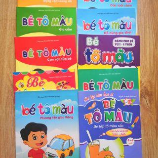 Combo 10 cuốn bé tập tô màu các chủ đề khác nhau