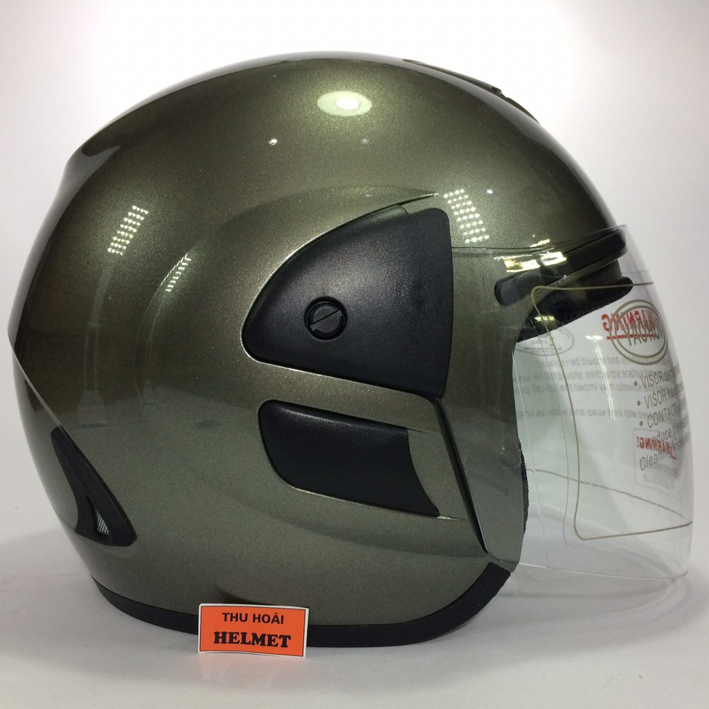Mũ bảo hiểm Asia 119 xám bóng