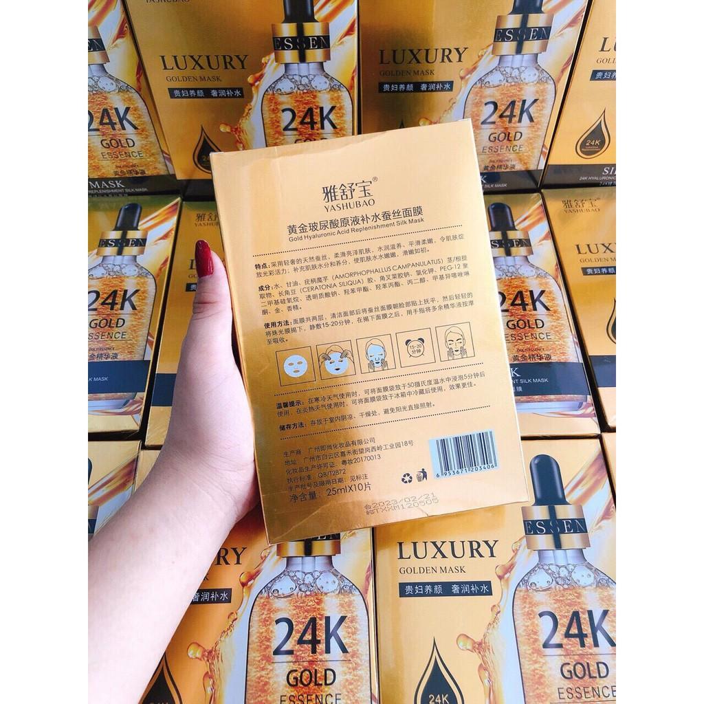 Mặt nạ lụa 24k Luxury  dưỡng ẩm phục hồi hư tổn da cao cấp  Chính hãng nội địa trung CS41