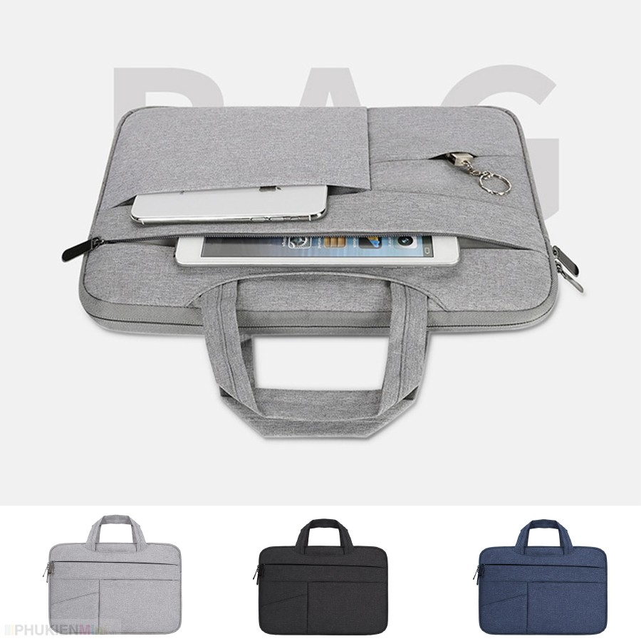 Túi chống sốc laptop BUBM 7 ngăn, có quai xách, vải chống thấm dành cho macbook pro, laptop 13 inch, 14 inch, 15 inch...