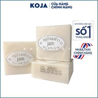 [Mã 88FMCGSALE1 giảm 10% đơn 250K] Xà Phòng Cám Gạo Thái Lan JAM RICE MILK SOAP 65gr