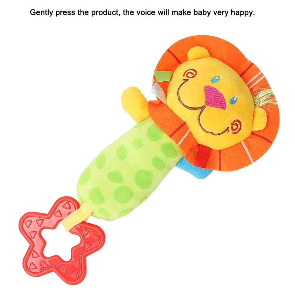 Plush Toys Lovely Soft Infant Animal Stroller Gift Cartoon Hand Mobile Bell Baby