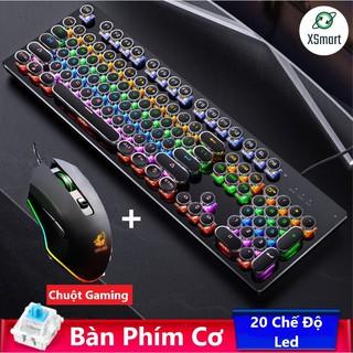 Bộ Bàn Phím Cơ T907 Và Chuột Gaming V1 Led Đổi Màu, Phím Cơ Có 20 Chế Độ Led Khác Nhau Tùy Chỉnh Cực Đẹp thumbnail