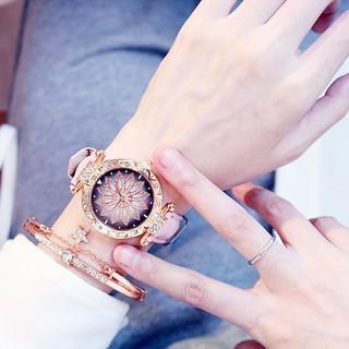 Đồng hồ nữ Dotime thời trang nữ Candycat mặt hoa đính đá siêu đẹp ZO26