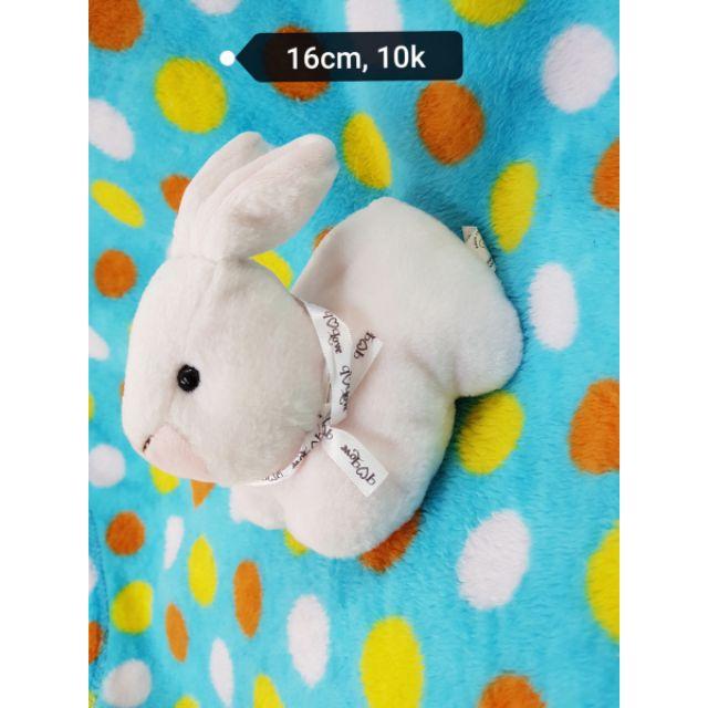 Gấu bông thỏ hồng đeo nơ
