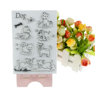 NBY❤❤Pet Puppy Dog Clear Silicone Stamps for DIY Scrapbooking/photo Albu