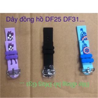 Dây đồng hồ thông minh df25 df31 df25g hồng xanh đen .. thumbnail
