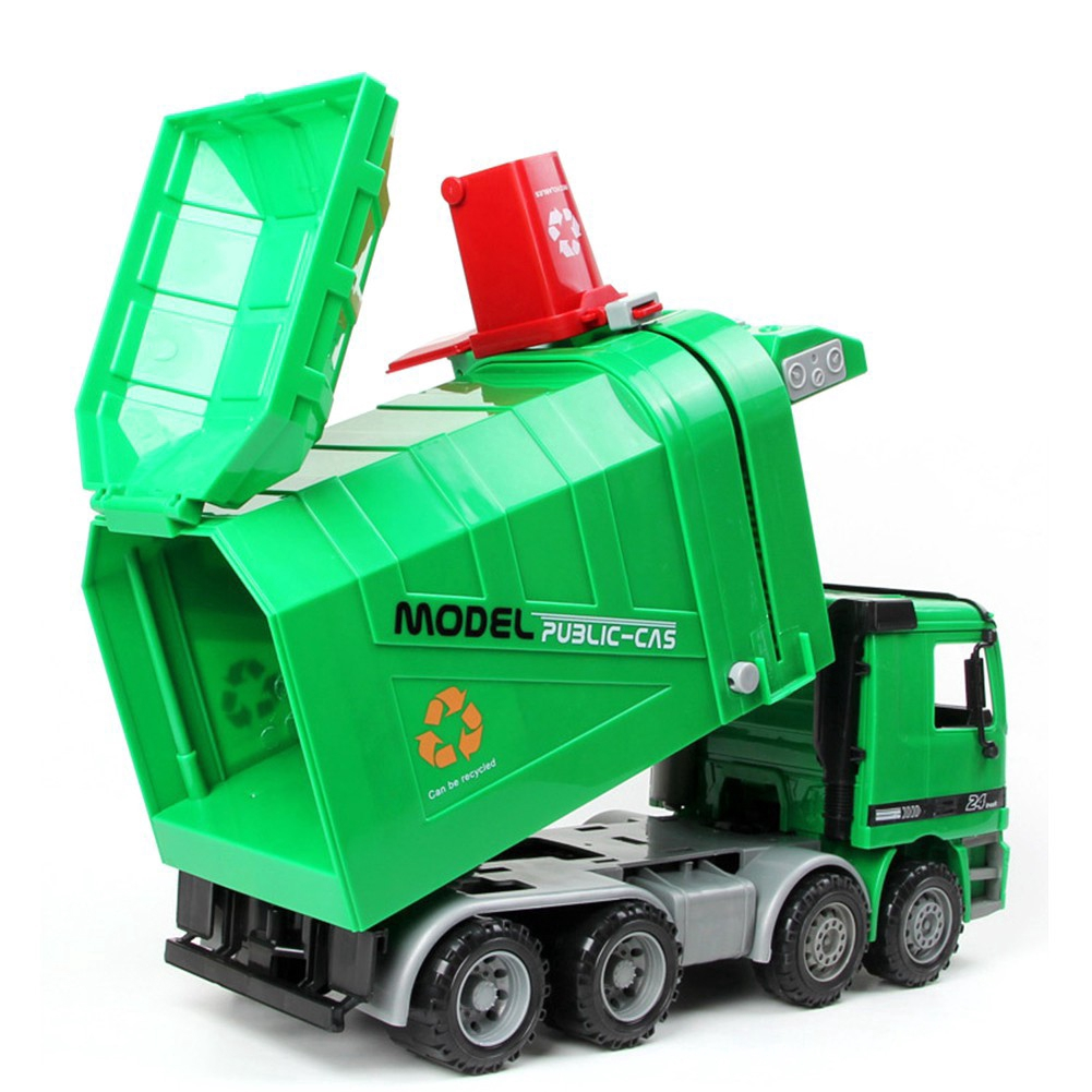 ABS Environment Vehicle Model Educational Cleaning Car Toy Loading Auto Inertia Engineering Gift Garbage Truck Children