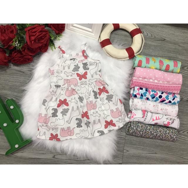 Váy 2 dây cho bé voi hồng