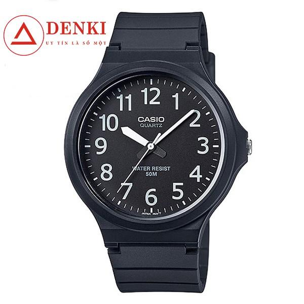 Đồng hồ nam dây nhựa Casio Standard chính hãng Anh Khuê MW-240-1BVDF