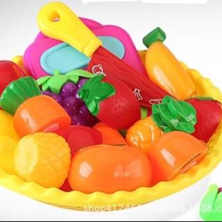 Rổ đồ chơi thái hoa quả nhựa cao cấp