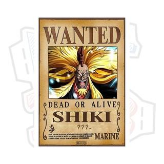 Poster truy nã Sư tử Vàng Shiki - One Piece