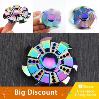 ★Ready Stock★Gear Rainbow EDC Hand Spinner ADHD Autism Zinc Alloy Finger Toy for Adult Kids