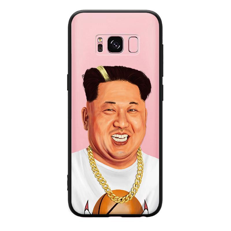 Ốp lưng bảo vệ in hình Kim Jong thời trang cho điện thoại Samsung A3 A5 A8 J3 J5 J7